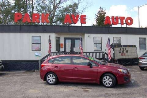 2013 Subaru Impreza for sale at Park Ave Auto Inc. in Worcester MA