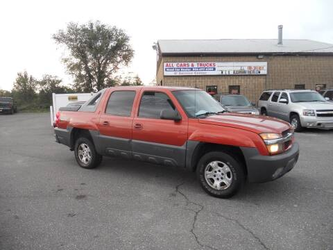 2003 Chevrolet Avalanche for sale at All Cars and Trucks in Buena NJ