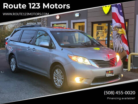 2013 Toyota Sienna for sale at Route 123 Motors in Norton MA