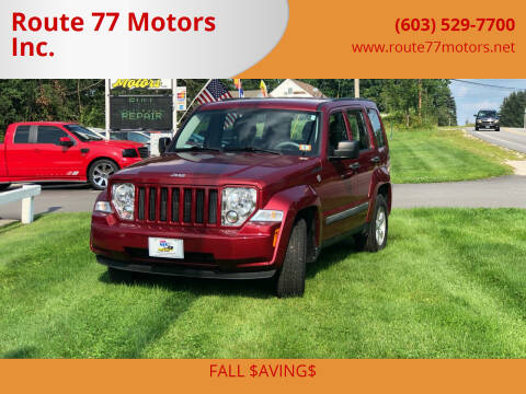 2012 Jeep Liberty for sale at Route 77 Motors Inc. in Weare NH