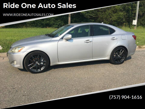 2007 Lexus IS 350 for sale at Ride One Auto Sales in Norfolk VA