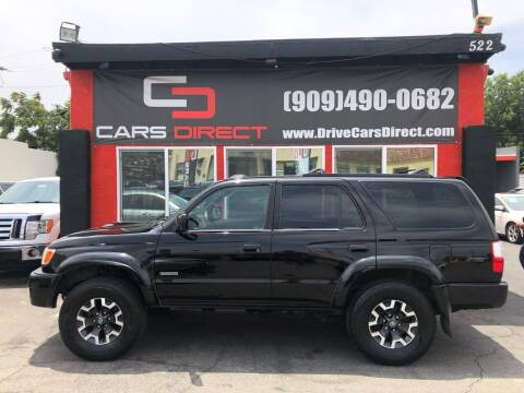2002 Toyota 4Runner for sale at Cars Direct in Ontario CA