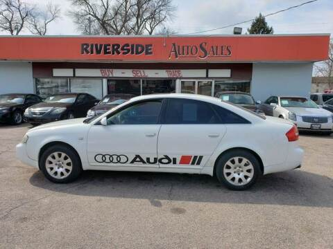 2002 Audi A6 for sale at RIVERSIDE AUTO SALES in Sioux City IA