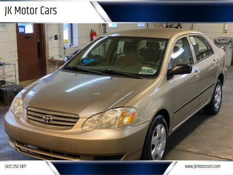 2004 Toyota Corolla for sale at JK Motor Cars in Pittsburgh PA