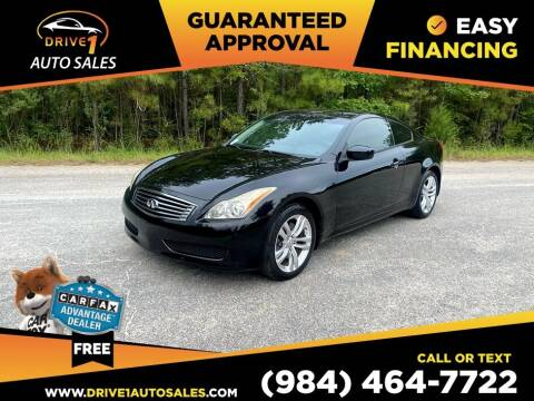 2010 Infiniti G37 Coupe for sale at Drive 1 Auto Sales in Wake Forest NC