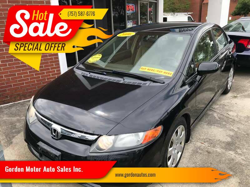 2006 Honda Civic for sale at Gordon Motor Auto Sales Inc. in Norfolk VA