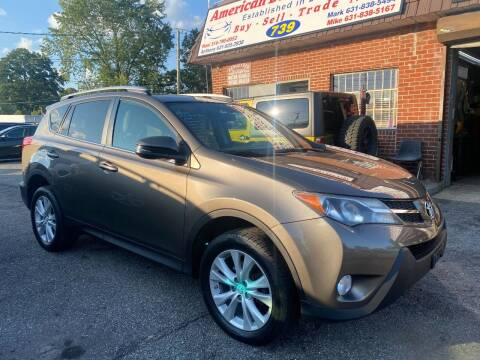 2015 Toyota RAV4 for sale at American Best Auto Sales in Uniondale NY