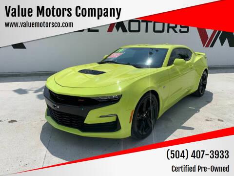 2019 Chevrolet Camaro for sale at Value Motors Company in Marrero LA