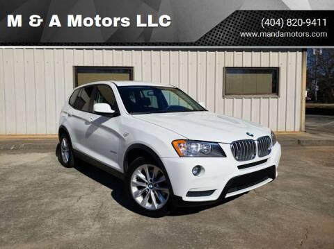 2014 BMW X3 for sale at M & A Motors LLC in Marietta GA