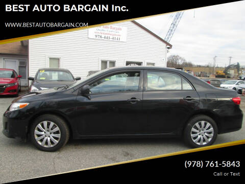 2012 Toyota Corolla for sale at BEST AUTO BARGAIN inc. in Lowell MA