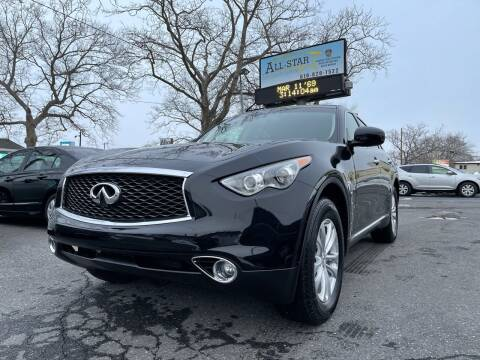 2017 Infiniti QX70 for sale at All Star Auto Sales and Service LLC in Allentown PA