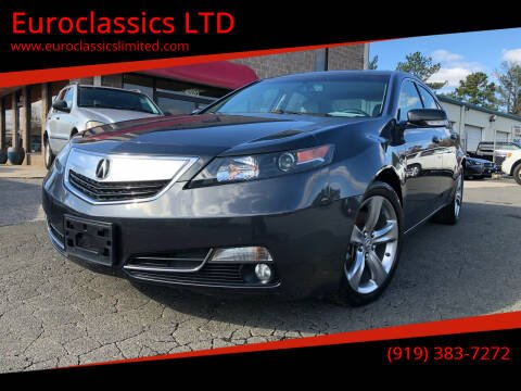 2012 Acura TL for sale at Euroclassics LTD in Durham NC