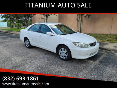 2005 Toyota Camry for sale at TITANIUM AUTO SALE in Houston TX