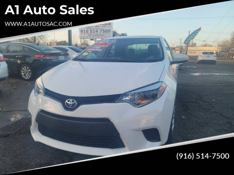 2014 Toyota Corolla for sale at A1 Auto Sales in Sacramento CA