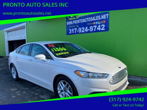 2013 Ford Fusion for sale at PRONTO AUTO SALES INC in Indianapolis IN