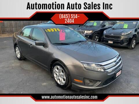 2010 Ford Fusion for sale at Automotion Auto Sales Inc in Kingston NY