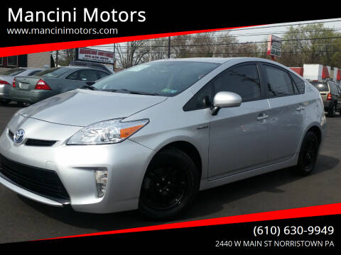 2015 Toyota Prius for sale at Mancini Motors in Norristown PA