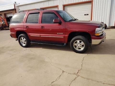 2002 Chevrolet Tahoe for sale at 4 B CAR CORNER in Anadarko OK