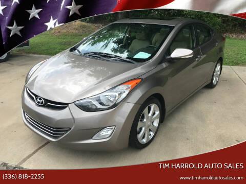 2013 Hyundai Elantra for sale at Tim Harrold Auto Sales in Wilkesboro NC