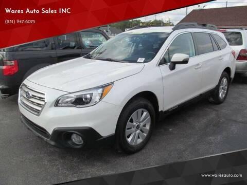 2016 Subaru Outback for sale at Wares Auto Sales INC in Traverse City MI