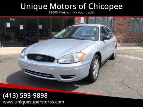 2005 Ford Taurus for sale at Unique Motors of Chicopee in Chicopee MA