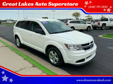 2013 Dodge Journey for sale at Great Lakes Auto Superstore in Waterford Township MI