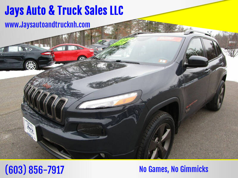 2016 Jeep Cherokee for sale at Jays Auto & Truck Sales LLC in Loudon NH
