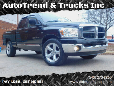 2007 Dodge Ram Pickup 1500 for sale at AutoTrend & Trucks Inc in Fredericksburg VA