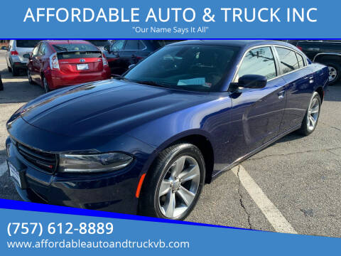 2015 Dodge Charger for sale at AFFORDABLE AUTO & TRUCK INC in Virginia Beach VA