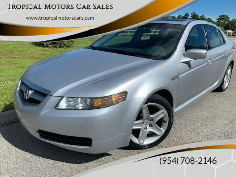 2004 Acura TL for sale at Tropical Motors Car Sales in Deerfield Beach FL