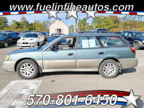 2000 Subaru Outback for sale at FUELIN FINE AUTO SALES INC in Saylorsburg PA