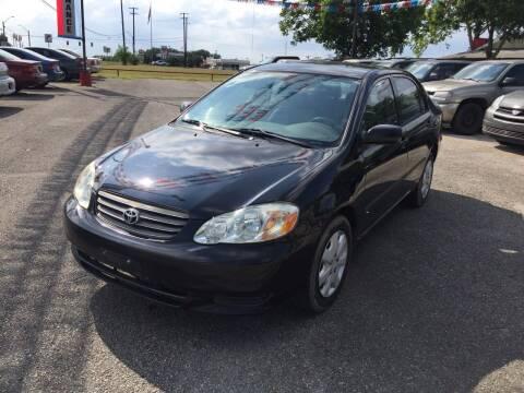 2003 Toyota Corolla for sale at John 3:16 Motors in San Antonio TX