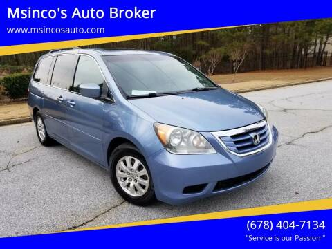 2008 Honda Odyssey for sale at Msinco's Auto Broker in Snellville GA