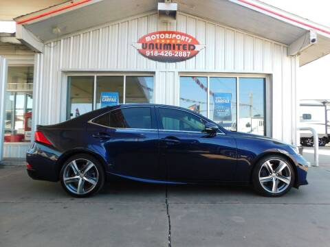 2017 Lexus IS 300 for sale at Motorsports Unlimited in McAlester OK