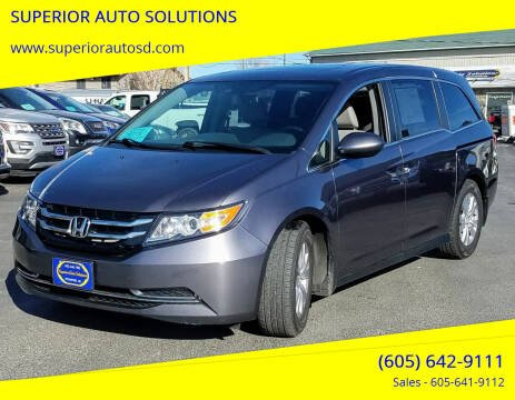 2016 Honda Odyssey for sale at SUPERIOR AUTO SOLUTIONS in Spearfish SD