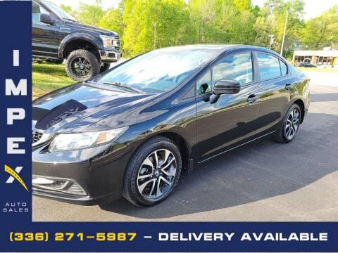2015 Honda Civic for sale at Impex Auto Sales in Greensboro NC
