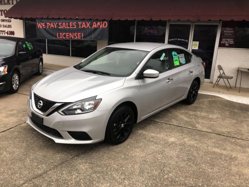 2019 Nissan Sentra for sale at BRAMLETT MOTORS in Hope AR