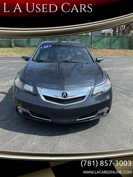2012 Acura TL for sale at L A Used Cars in Abington MA
