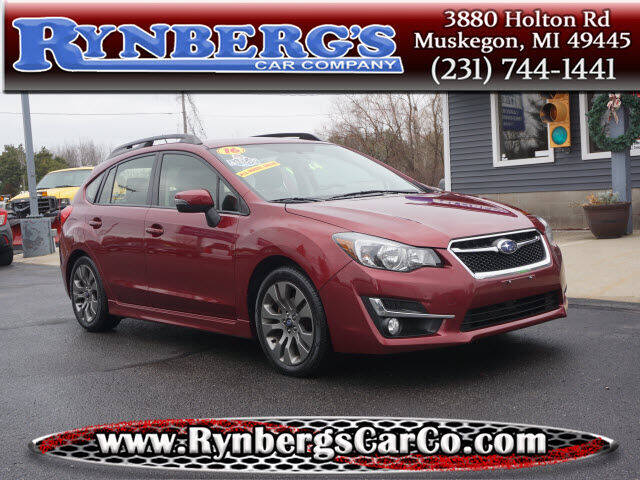2016 Subaru Impreza for sale at Rynbergs Car Co in Muskegon MI