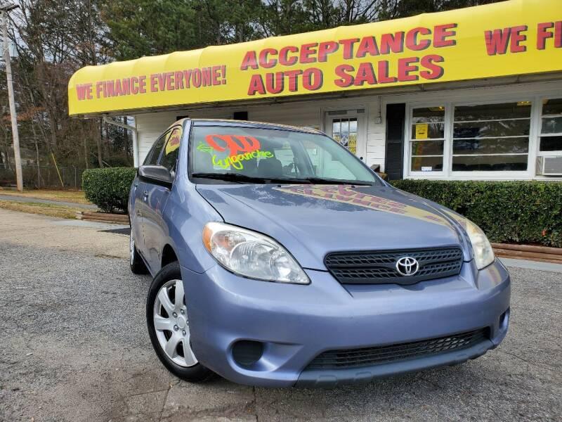 2007 Toyota Matrix for sale at Acceptance Auto Sales in Marietta GA