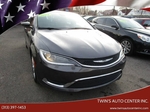 2015 Chrysler 200 for sale at Twin's Auto Center Inc. in Detroit MI