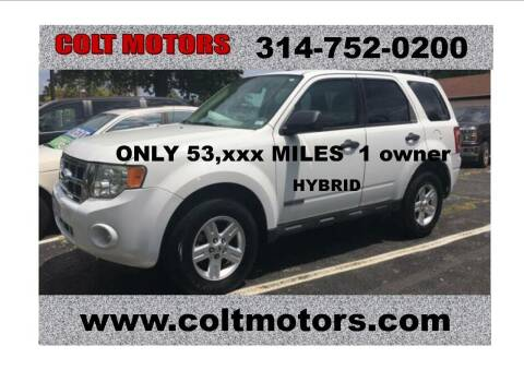 2008 Ford Escape Hybrid for sale at COLT MOTORS in Saint Louis MO
