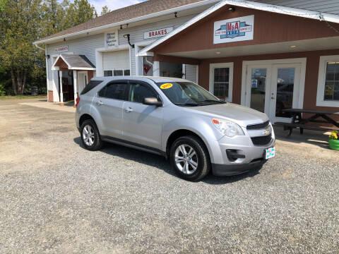 2013 Chevrolet Equinox for sale at M&A Auto in Newport VT