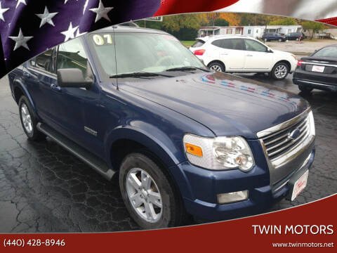 2007 Ford Explorer for sale at TWIN MOTORS in Madison OH