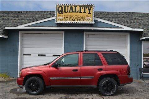 2002 Chevrolet TrailBlazer for sale at Quality Pre-Owned Automotive in Cuba MO
