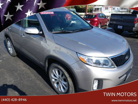 2015 Kia Sorento for sale at TWIN MOTORS in Madison OH