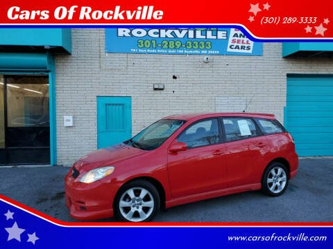2003 Toyota Matrix for sale at Cars Of Rockville in Rockville MD