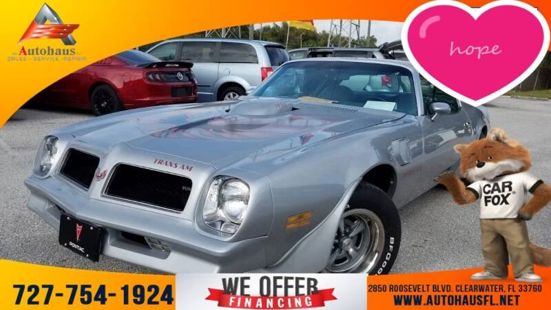 1976 Pontiac Firebird for sale at Das Autohaus Quality Used Cars in Clearwater FL