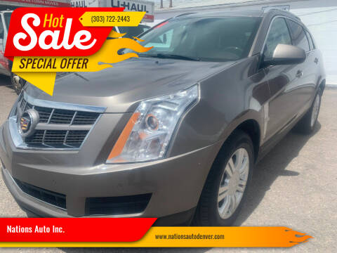 2011 Cadillac SRX for sale at Nations Auto Inc. in Denver CO