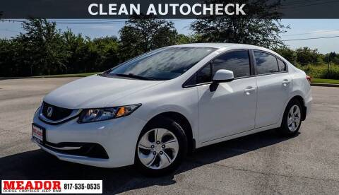 2013 Honda Civic for sale at Meador Dodge Chrysler Jeep RAM in Fort Worth TX